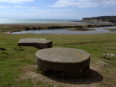 Type 25 and non-standard pillboxes at Cuckmere Haven