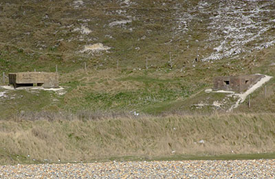 Non-standard and Type 23 pillboxes at Cuckmere Haven