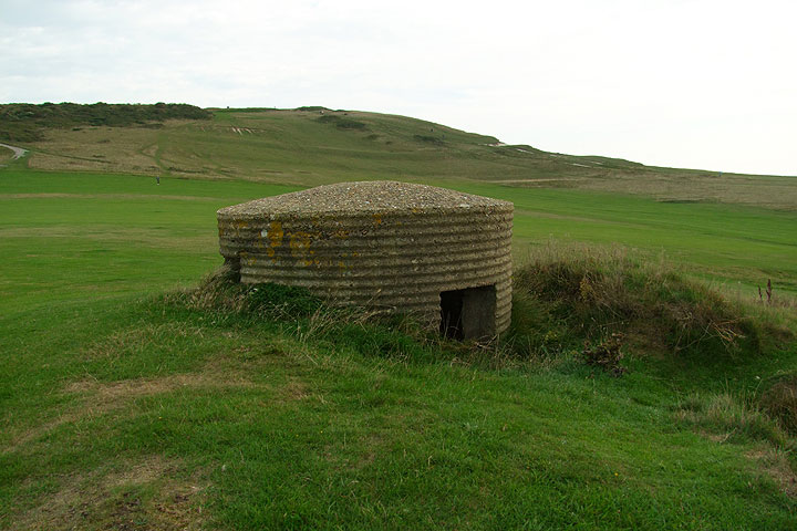 Bunkers on a golf course