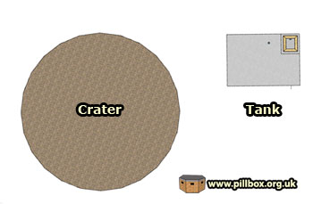 Bomb craters