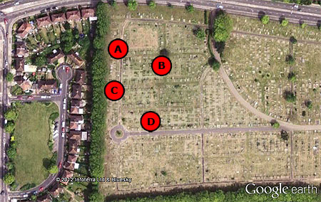 Bomb craters (9) - another cemetery hit