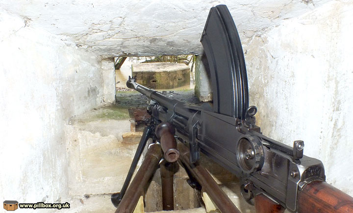 Bren gun in Type 24 Pillbox at Withyham